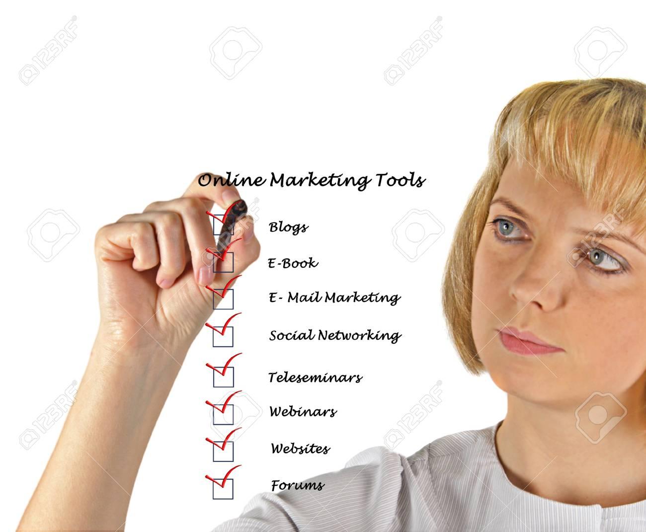 Online marketing tools Stock Photo - 13254050