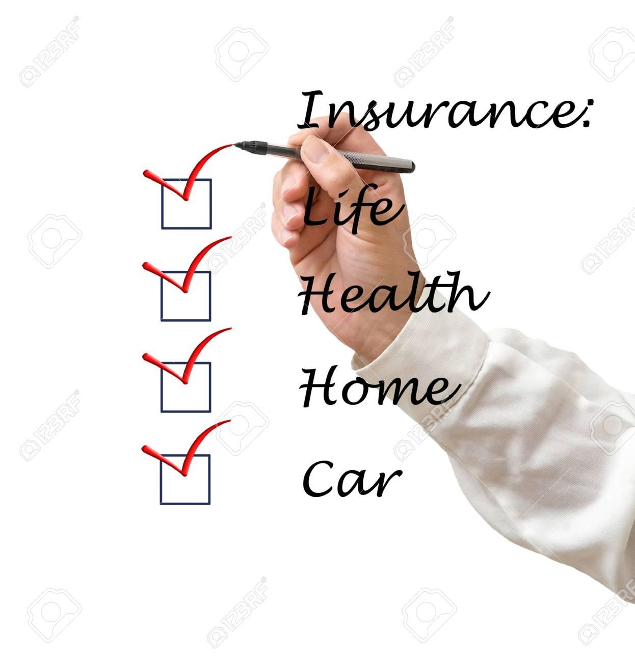 Insurance list Stock Photo - 14038425
