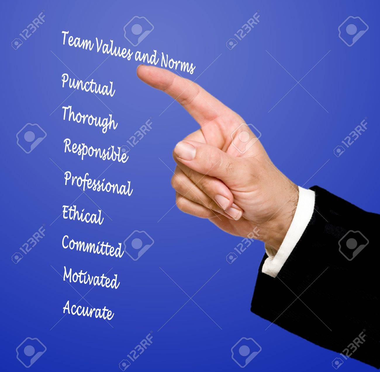 team values and norms Stock Photo - 14527728