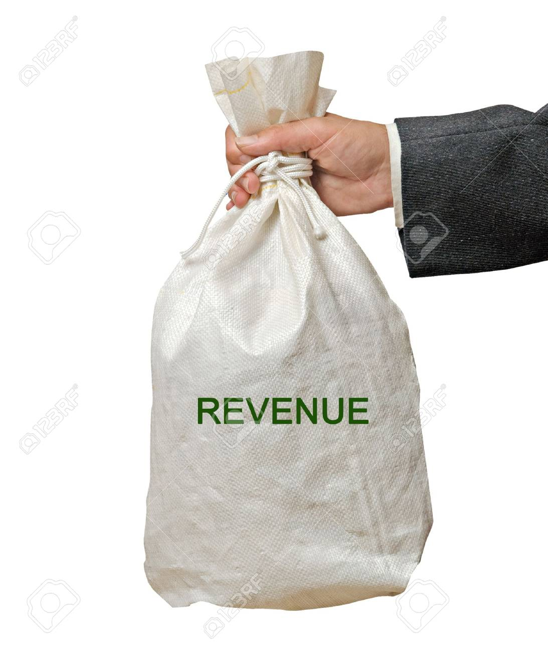 Bag with revenue Stock Photo - 16506351