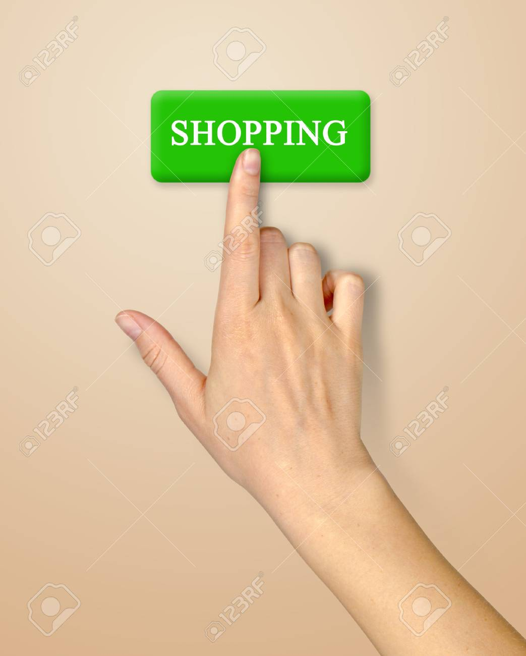 Button for shopping Stock Photo - 16676250