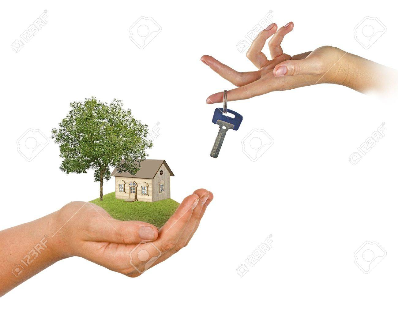Hand with key Stock Photo - 19604886