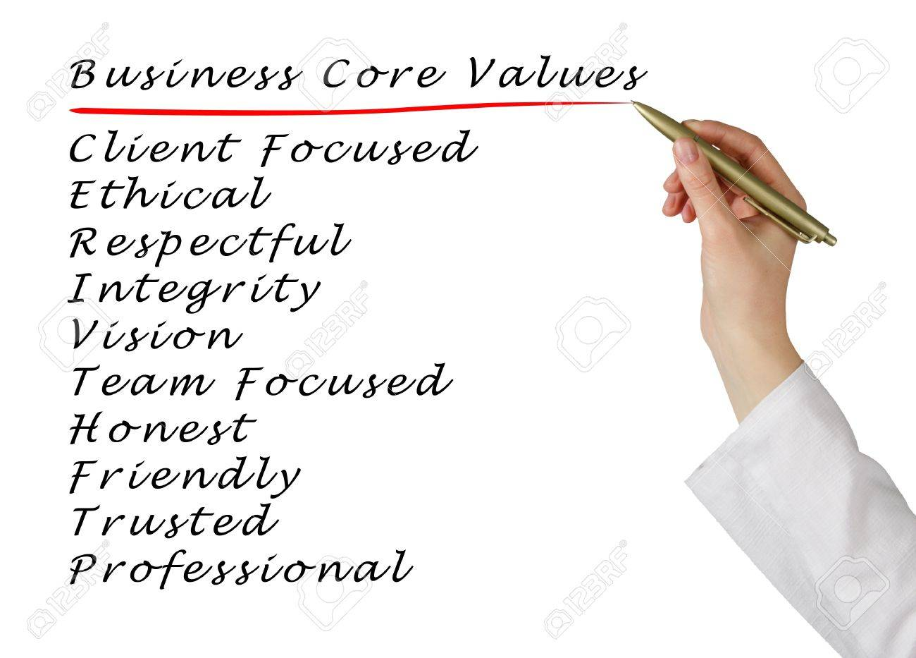 Business core values Stock Photo - 21345167