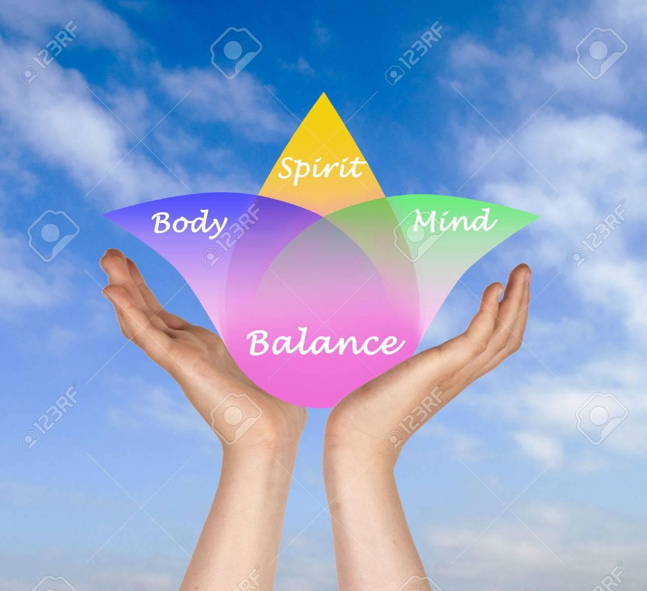 Body, spirit, mind Balance Stock Photo - 25660404