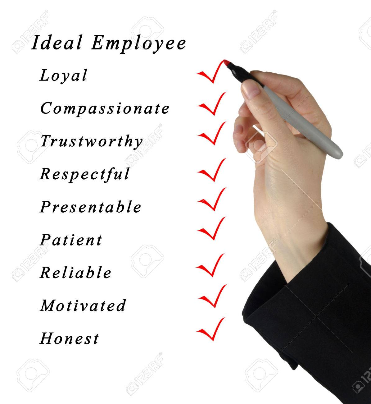 Ideal Employee Stock Photo, Picture And Royalty Free Image. Image ...