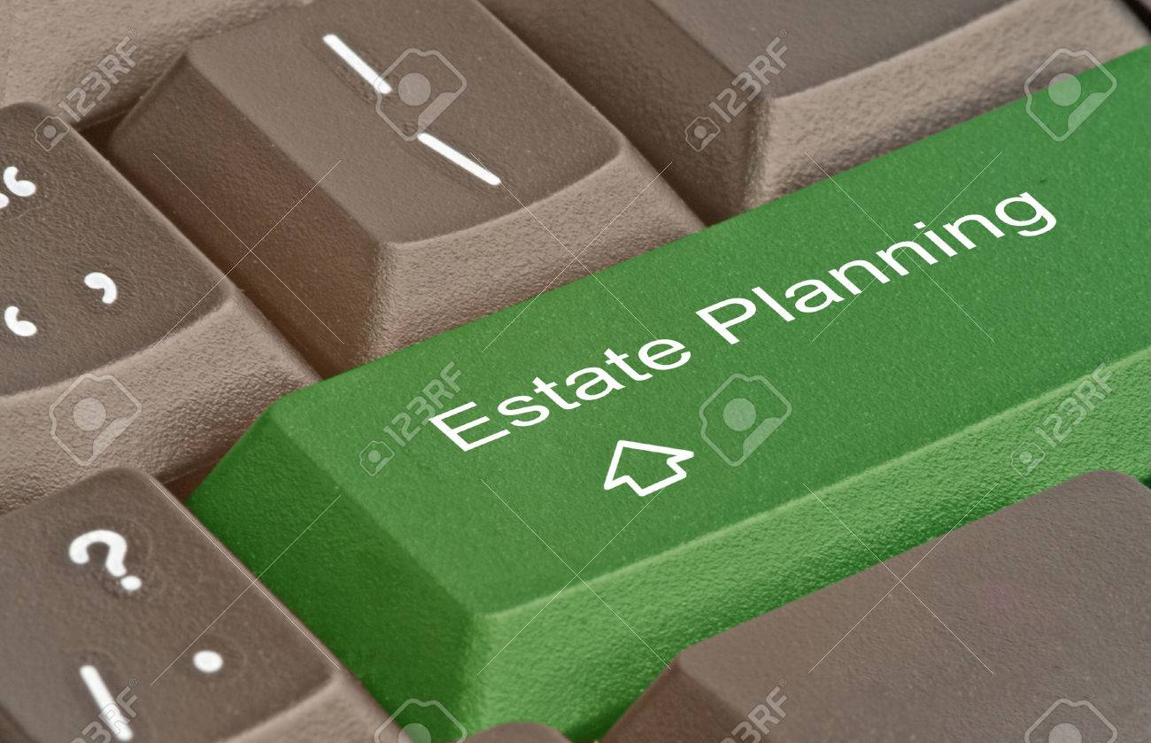 Keyboard with hot key for estate planning Stock Photo - 32051081