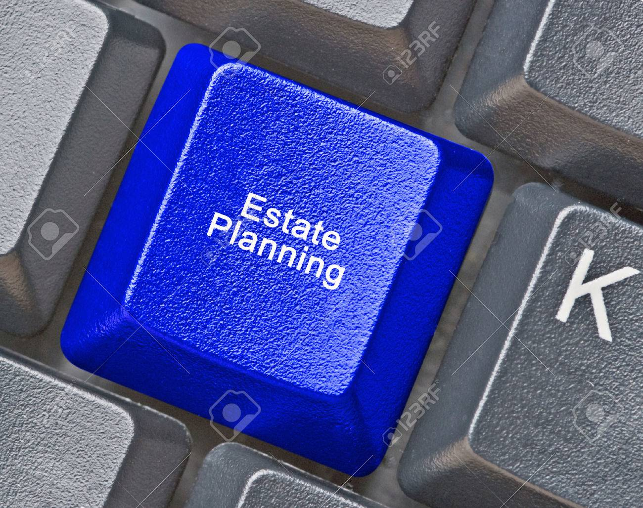 Keyboard with hot key for estate planning Stock Photo - 33423894
