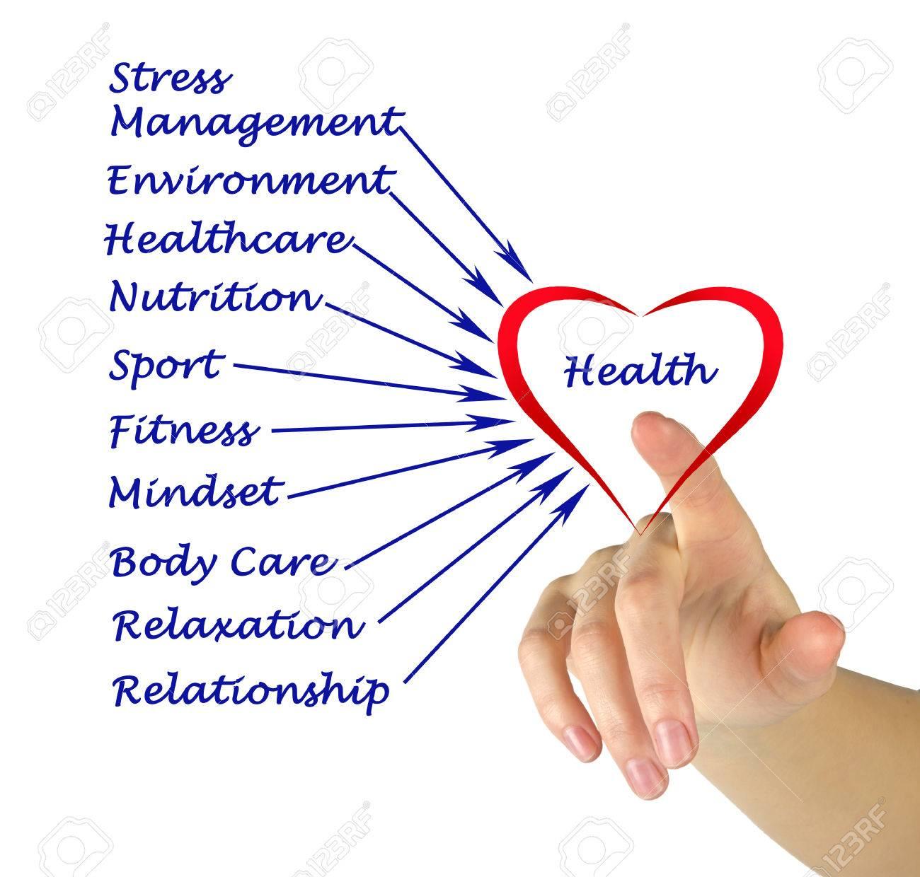 Diagram of health Stock Photo - 35224282