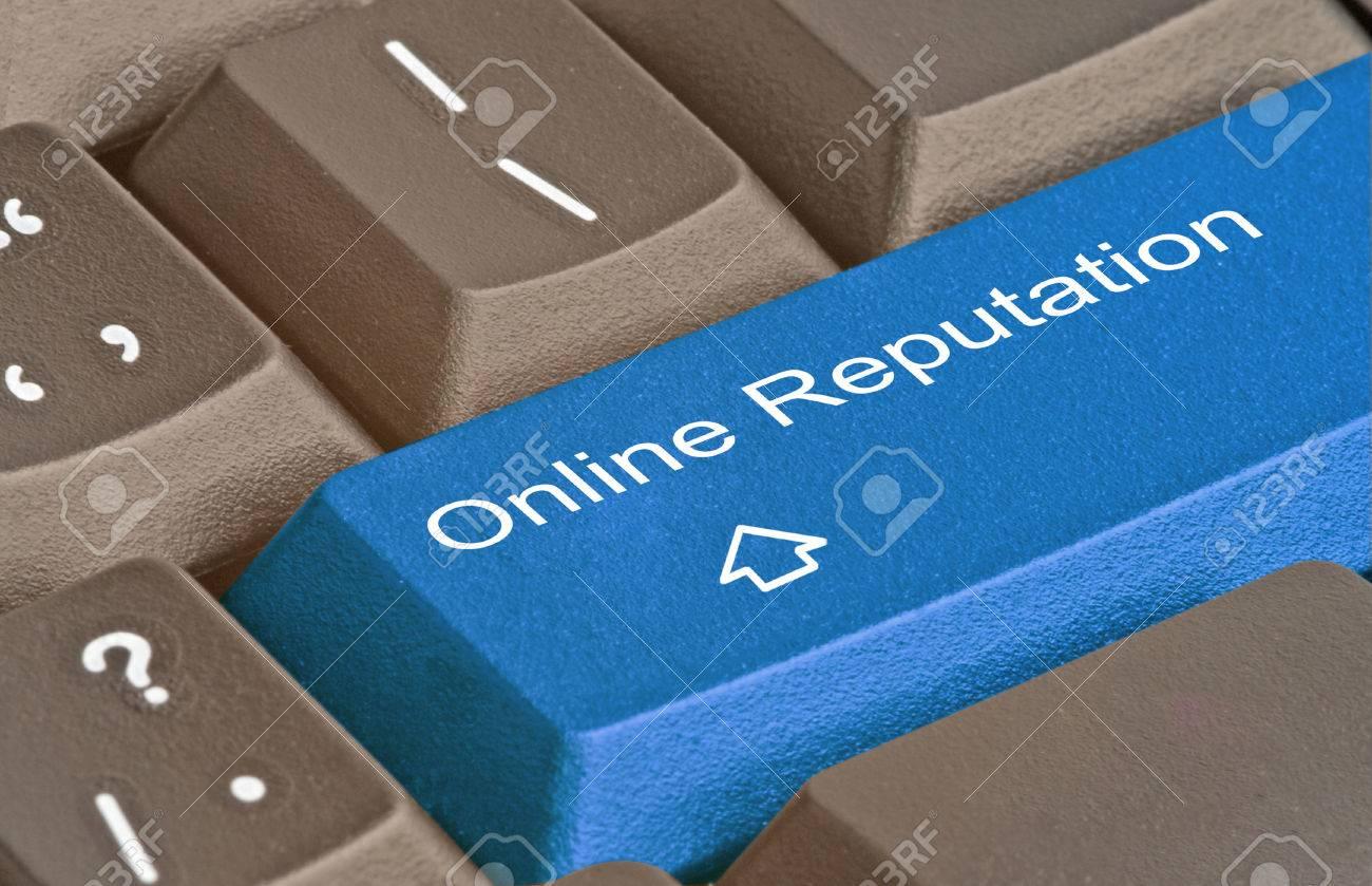 Key for online reputation Stock Photo - 37034255