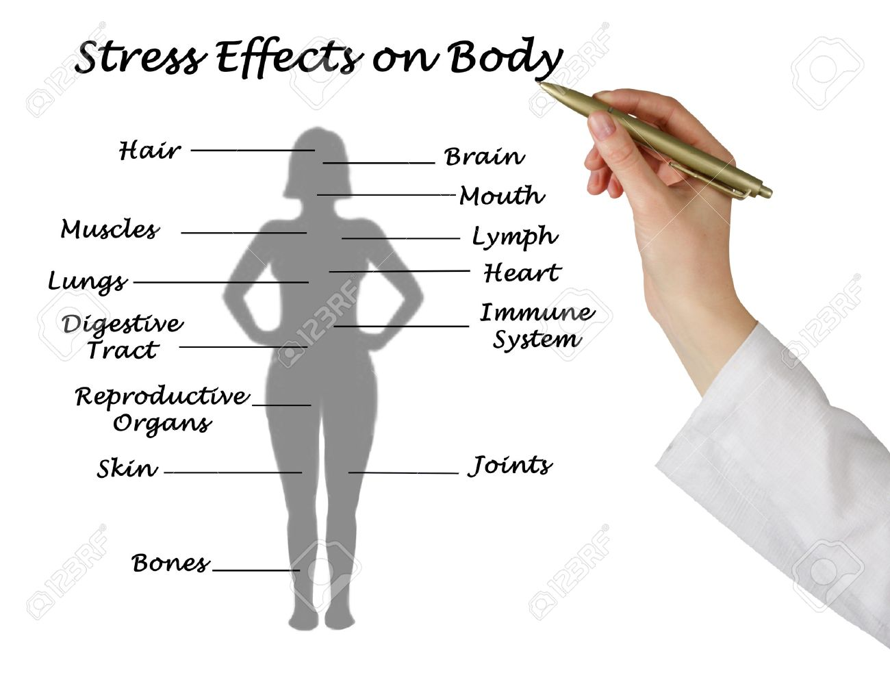 Stress Effects on Body Stock Photo - 38068645