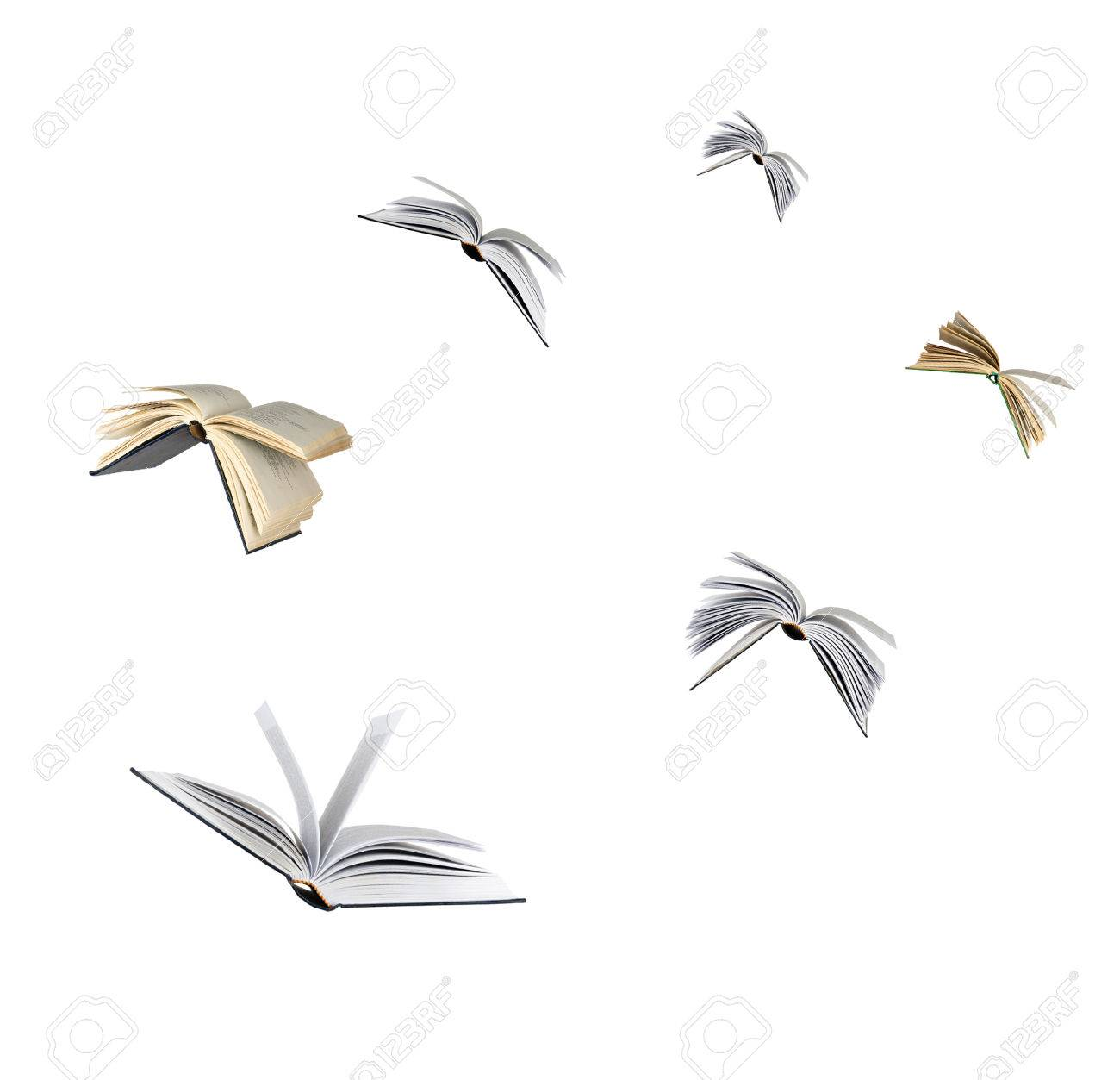 Flying books Stock Photo - 38565030