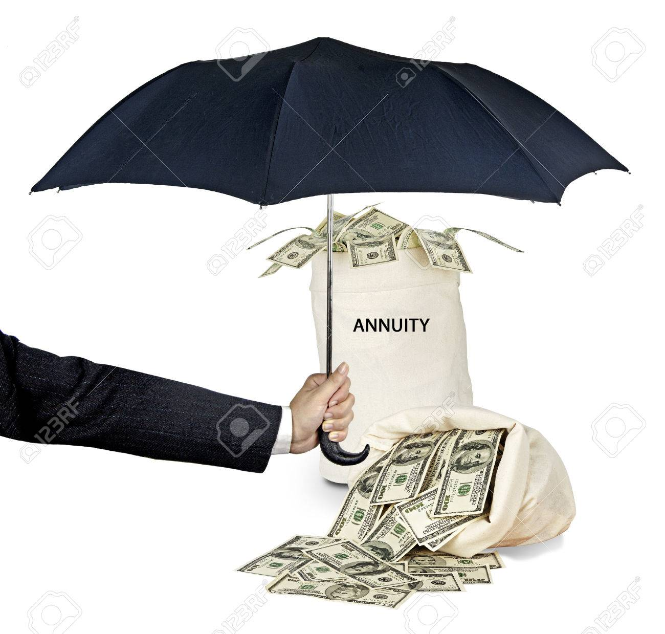 Bag with annuity Stock Photo - 38566886