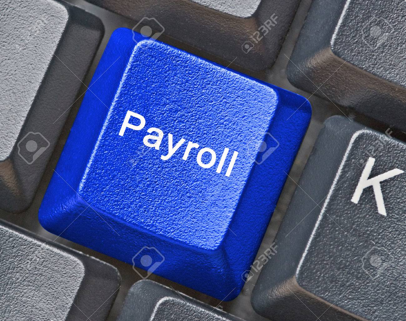 Keyboard with key for payroll Stock Photo - 38833769