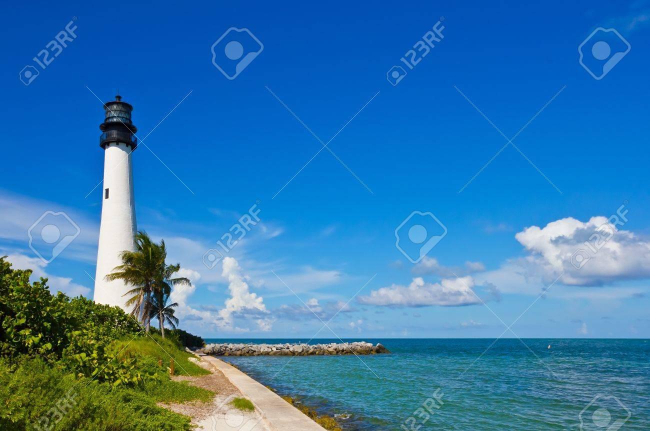 Cape Florida Lighthouse, Key Biscayne, Miami, Florida, USA Stock Photo - 10594639
