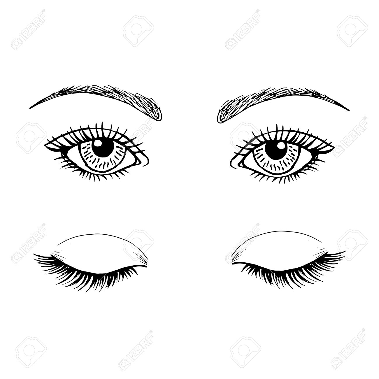 the template for the eyes makeup royalty free cliparts vectors and