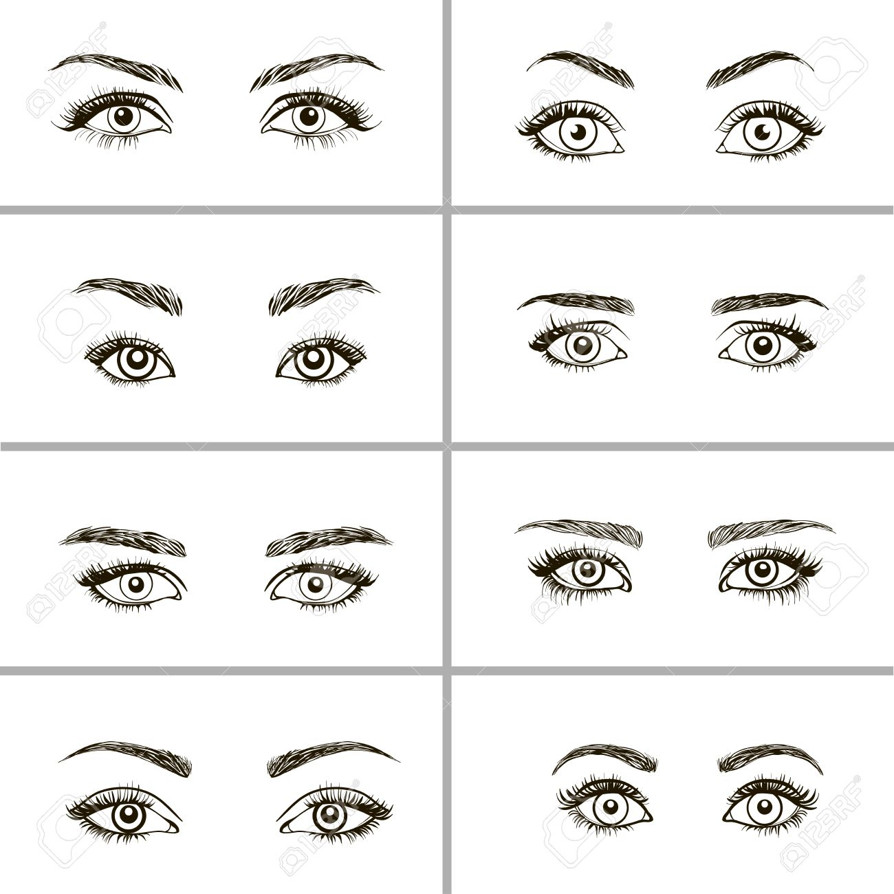 Makeup for different eye types