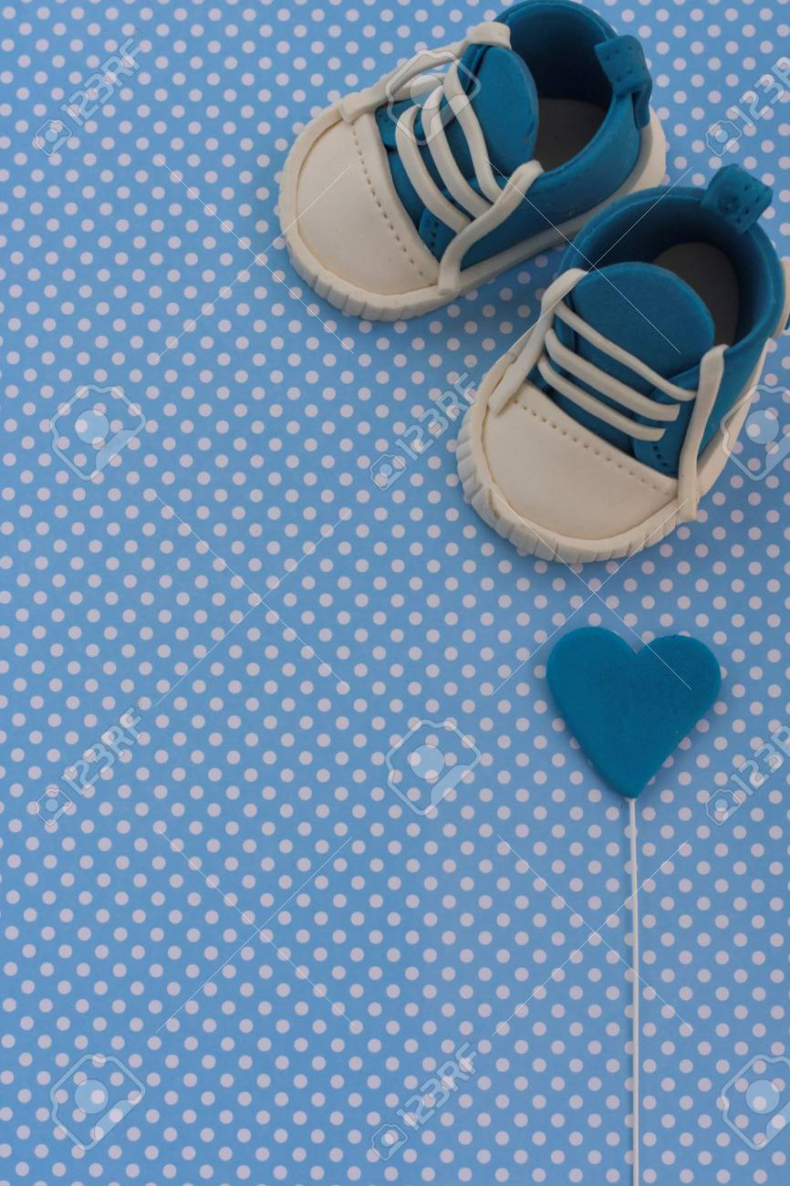 baby boy blue card kids background baby shower invitation baby