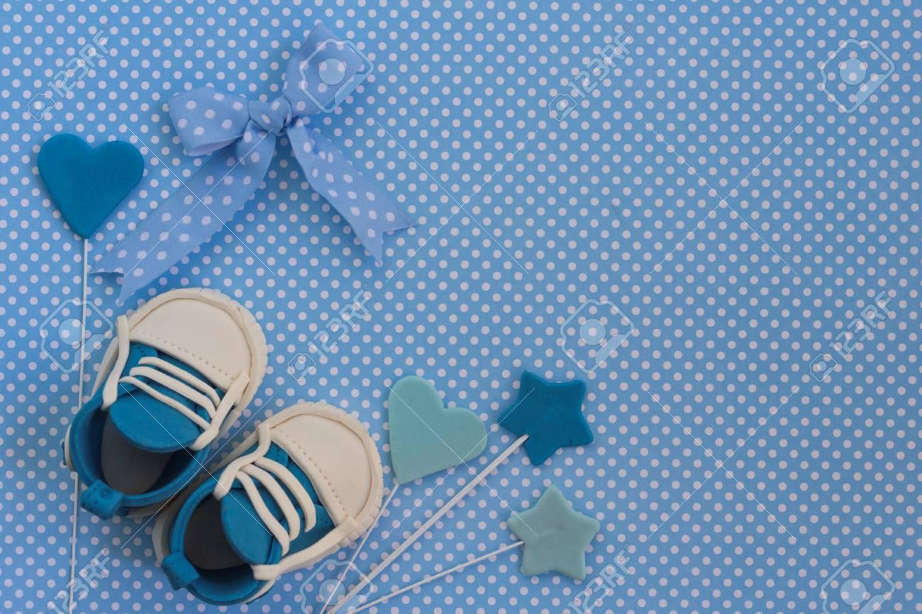 Carte Bleue De Bebe Garcon Contexte Nouveau Ne Invitation De