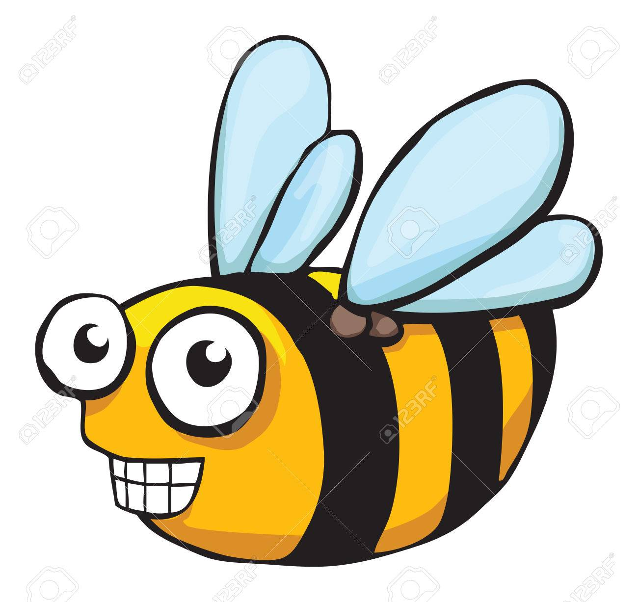 Cute Funny Bee Royalty Free Cliparts Vectors And Stock