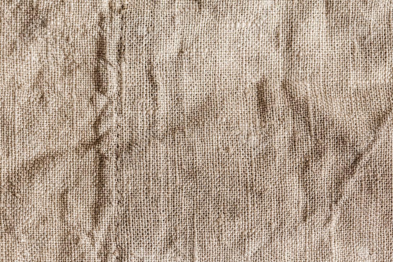 Eco friendly raw organic flax sack cloth fabric textile  Bag