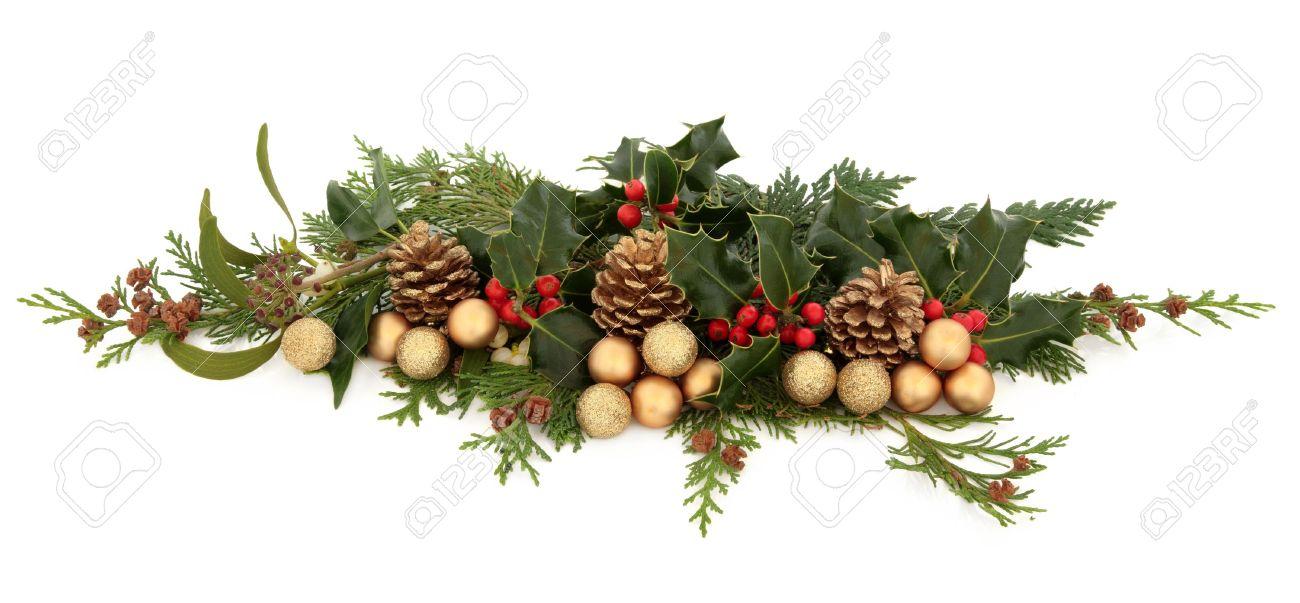 navidad decorativos arreglo floral de acebo el murdago la hiedra el cedro ramitas