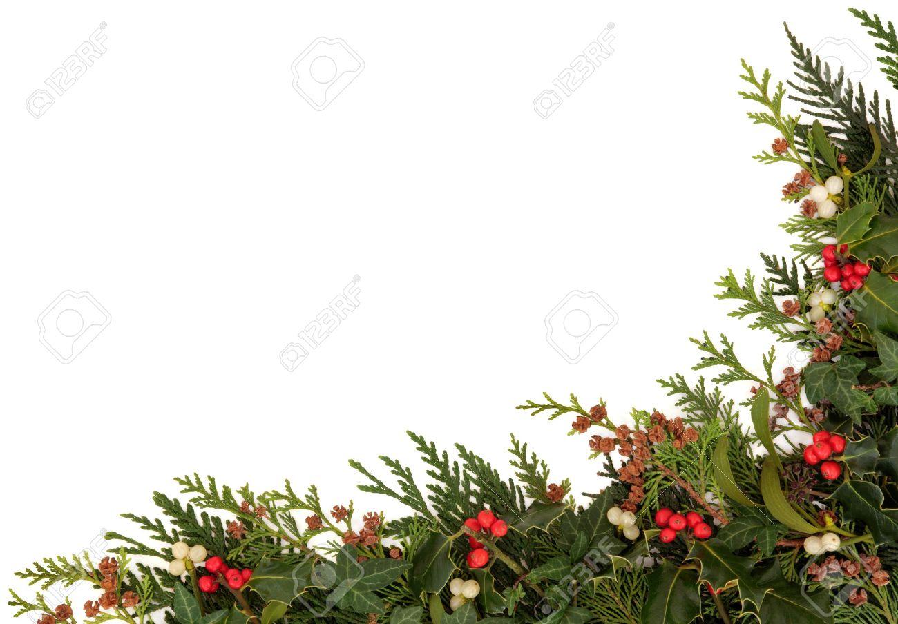 Mistletoe Border Stock Photos & Pictures. Royalty Free Mistletoe ...