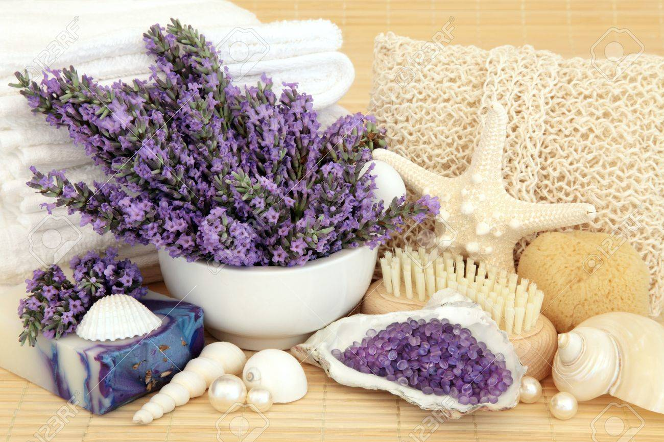 Handmade Bathroom Accessories Lavender Flowers With Handmade Soap Bath Crystals Bathroom