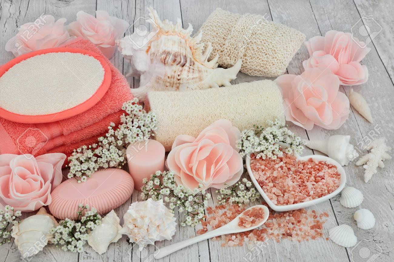 Fleur Pour Salle De Bain ~ soin de soin pour les soins de la peau avec des exfoliants pour le