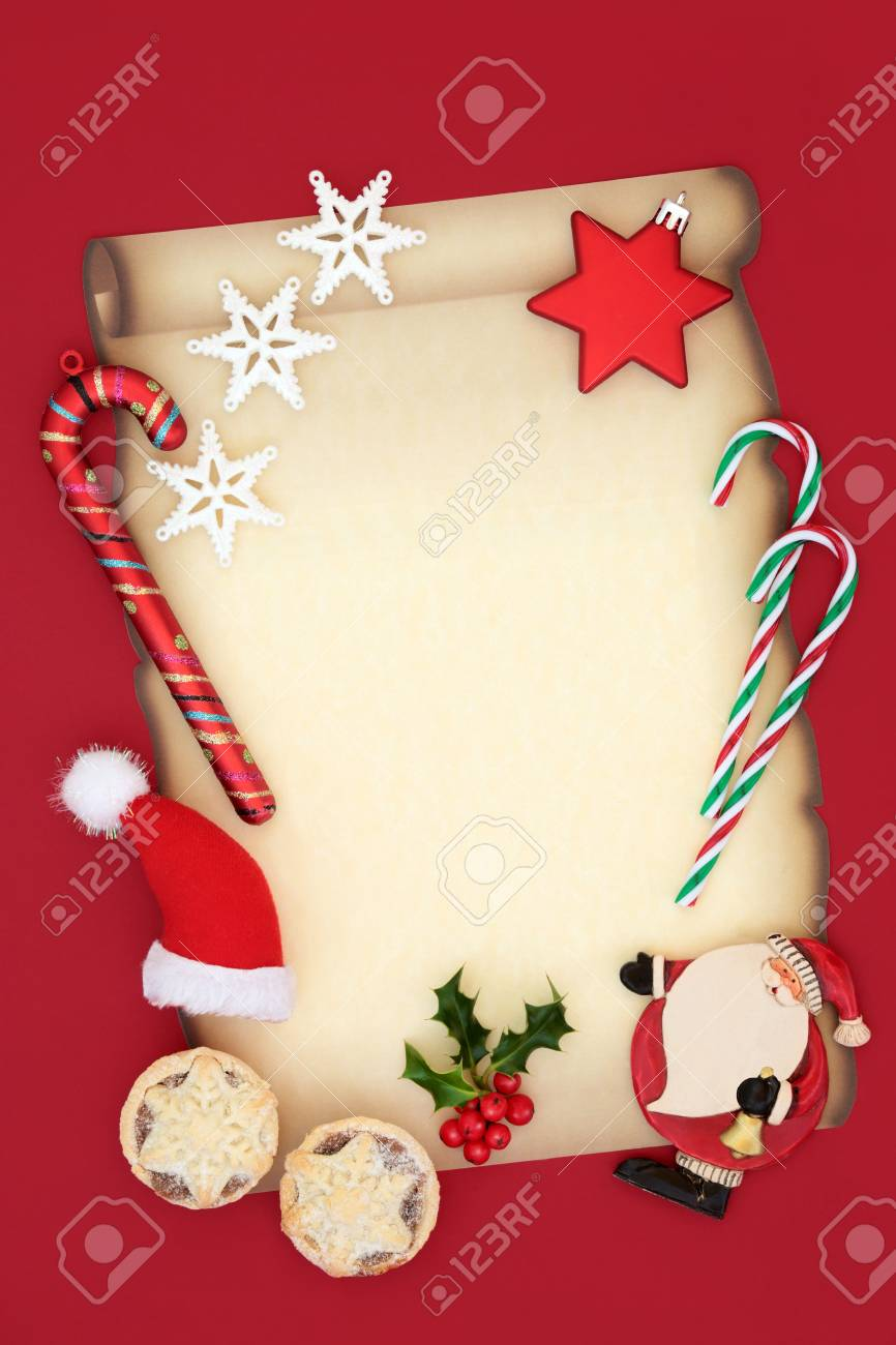 Letter To Santa Claus Christmas Eve Concept For A Party Invitation ...