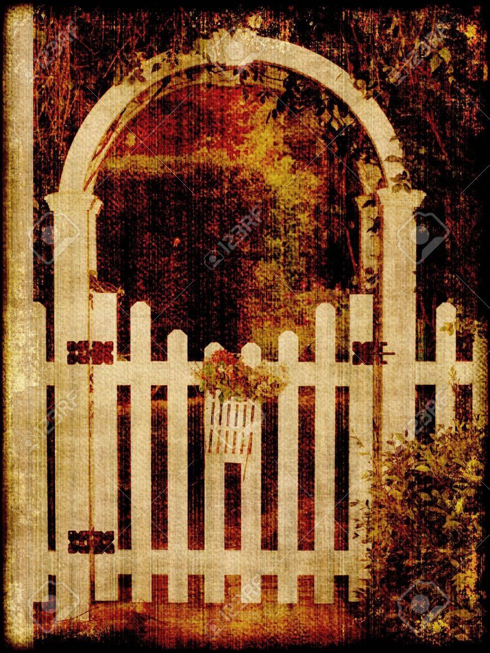 Vintage Garden Gate Stock Photo - 5378293