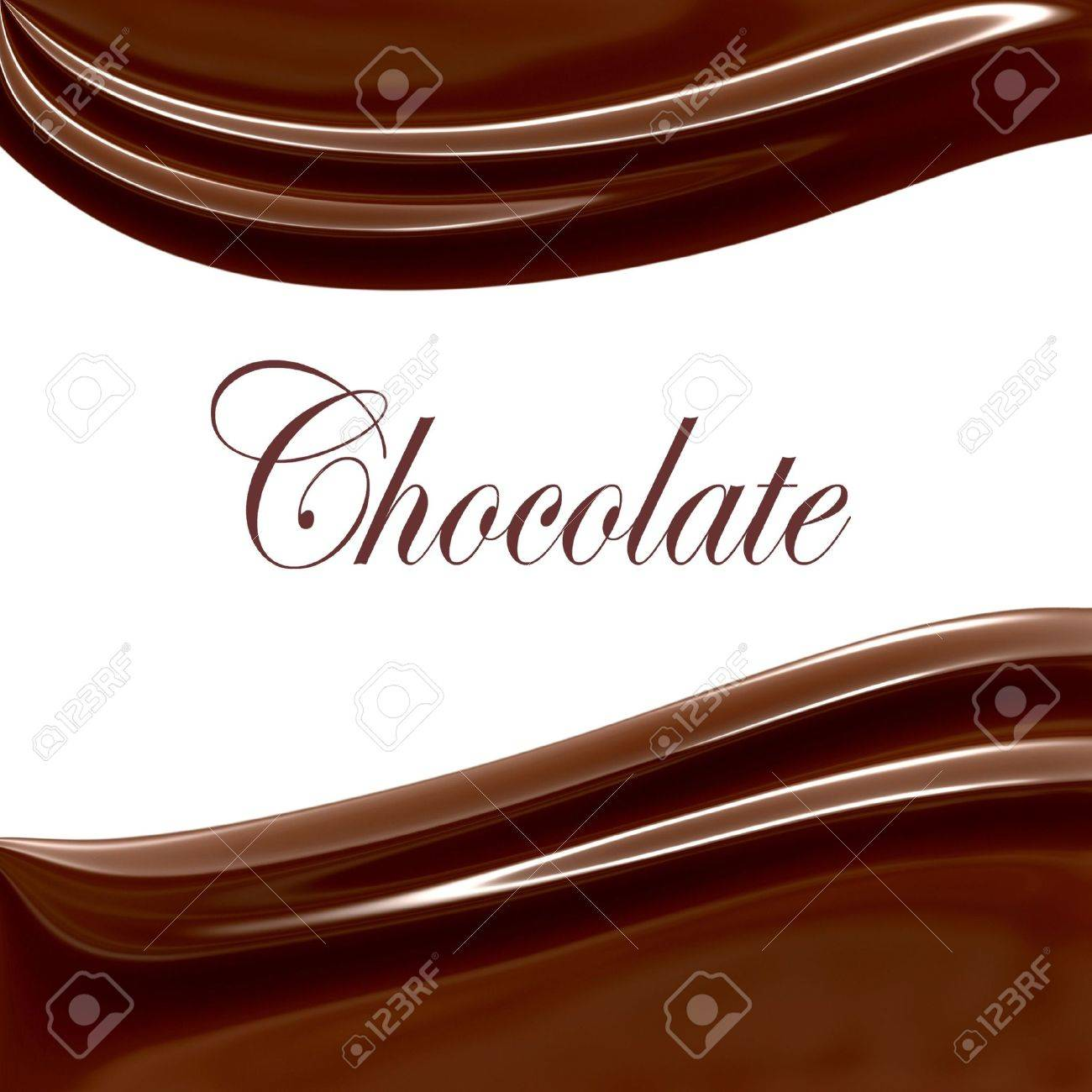 Chocolate Swirls On White Copy Space Stock Photo - 5388069