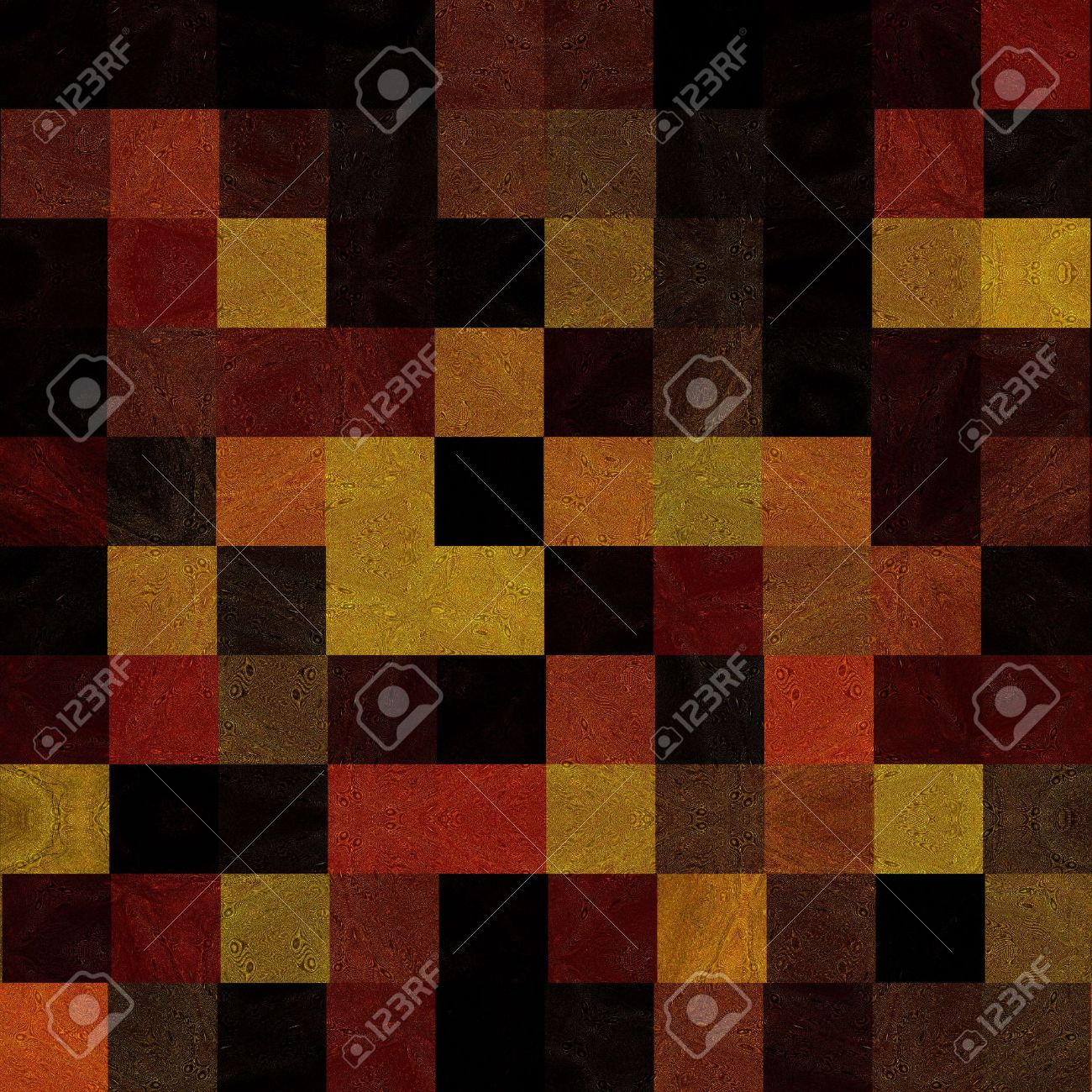 Rich, Earthy Colors Tile Mosaic Seamless Stock Photo - 5392233