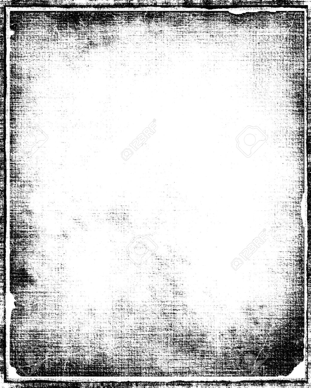 Grunge Border Frame In Black With White Copy Space