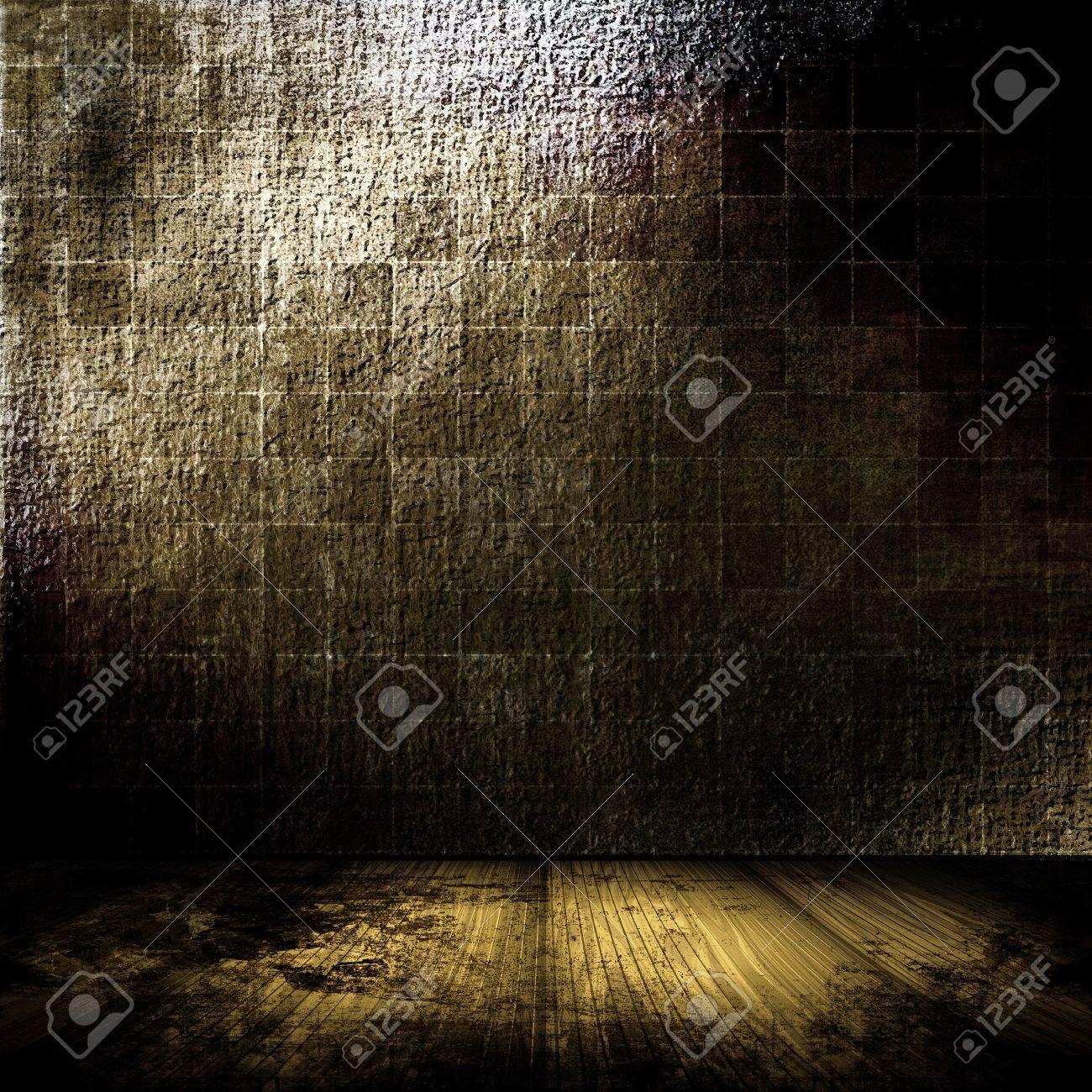 Brick Wall Grunge Room In Brown Tones Stock Photo - 8218823
