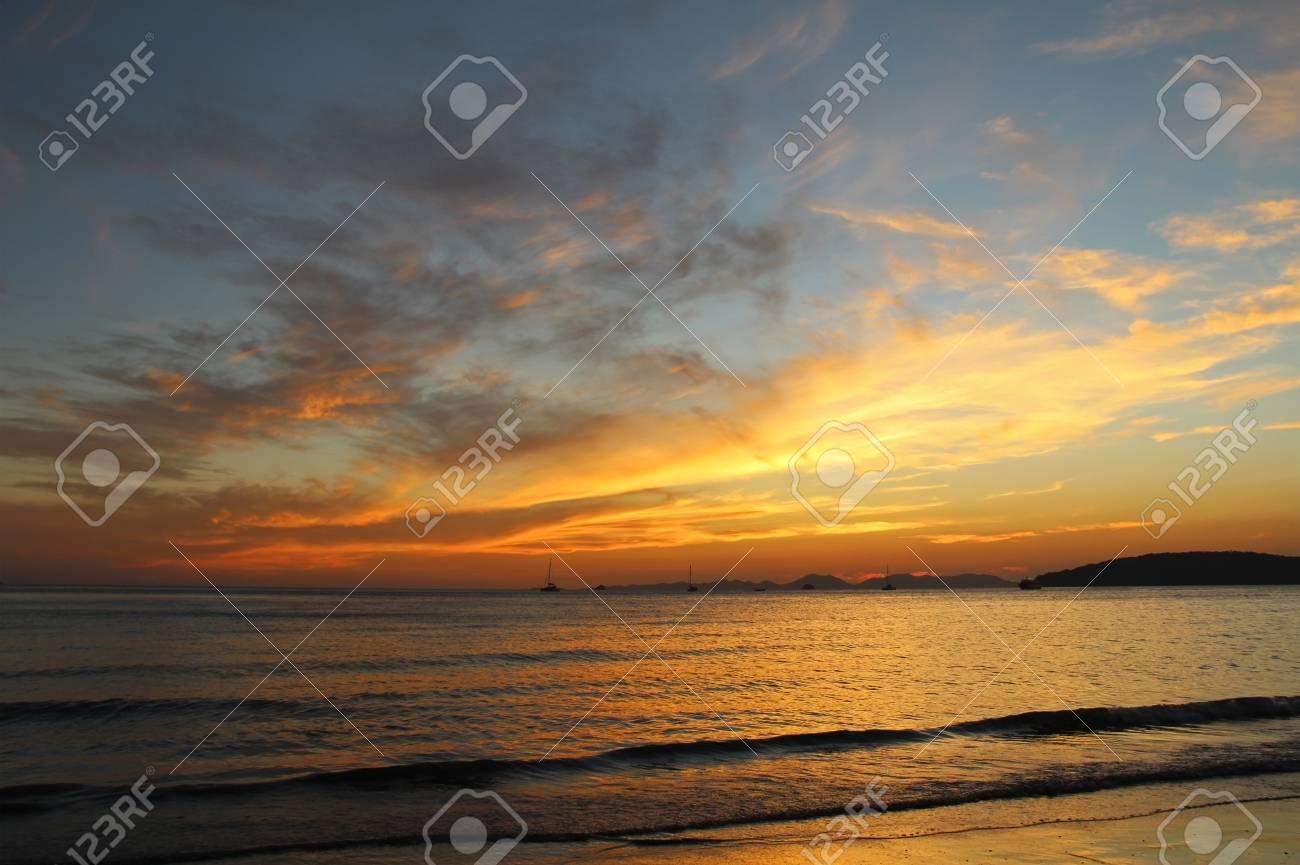 Beautiful view of the Andaman Sea at sunset. Krabi, Thailand. - 120253058