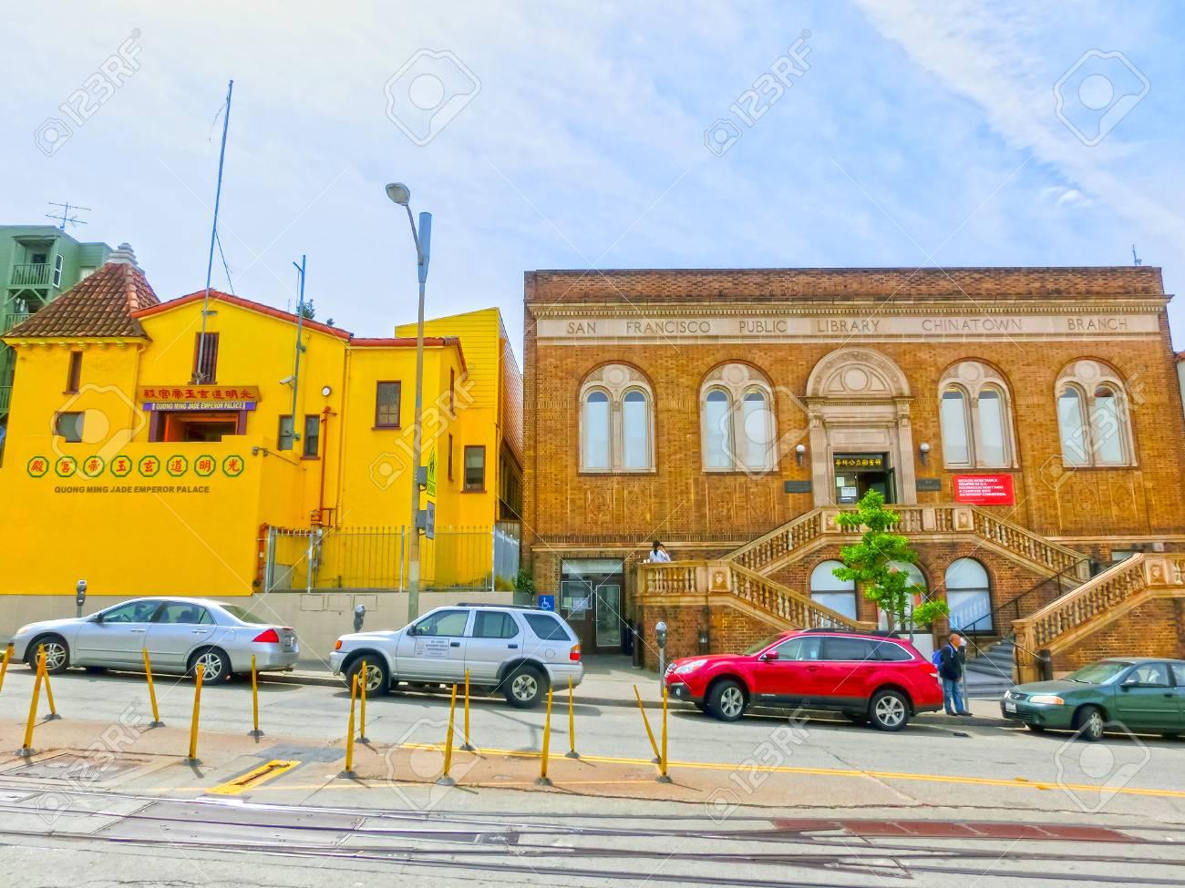 4 Viejos san francisco, california, estados unidos de américa - 4 de mayo de 2016:  los viejos edificios típicos en san francisco, los eeuu