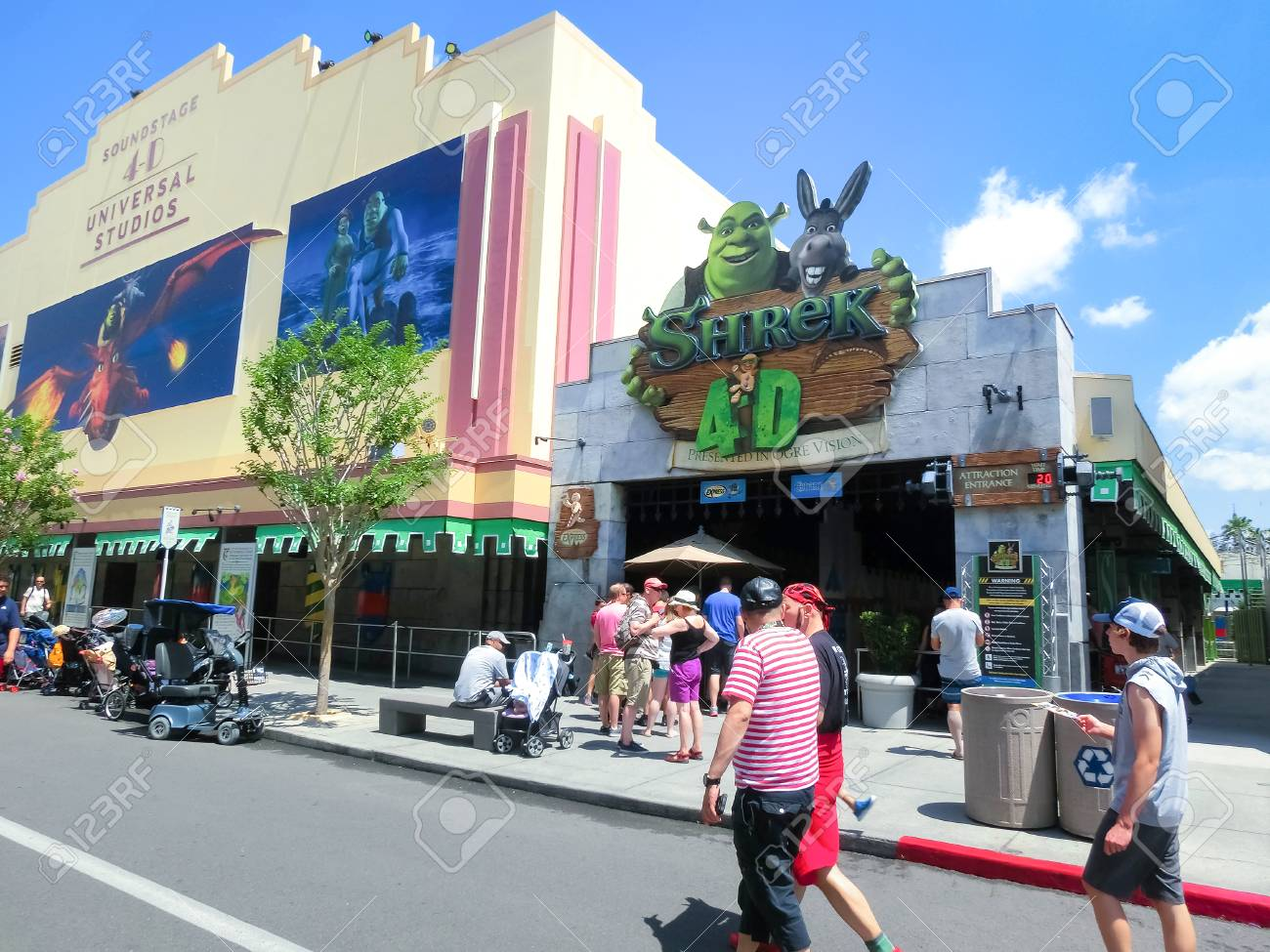 Orlando Florida Usa May 10 2018 The Entrance To Shrek 4d Stock Photo Picture And Royalty Free Image Image 112425395