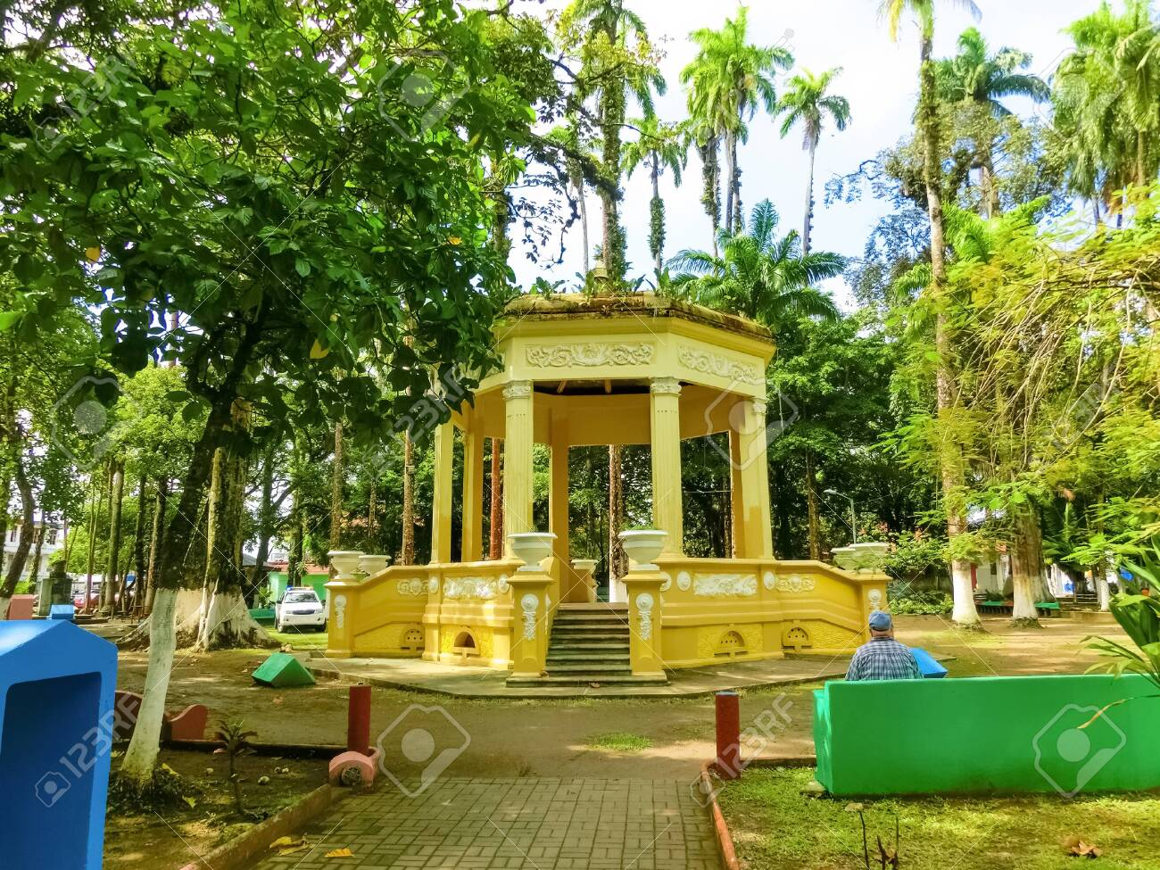 Parque Vargas City Park In Puerto Limon At Costa Rica Stock Photo Picture And Royalty Free Image Image 141961370