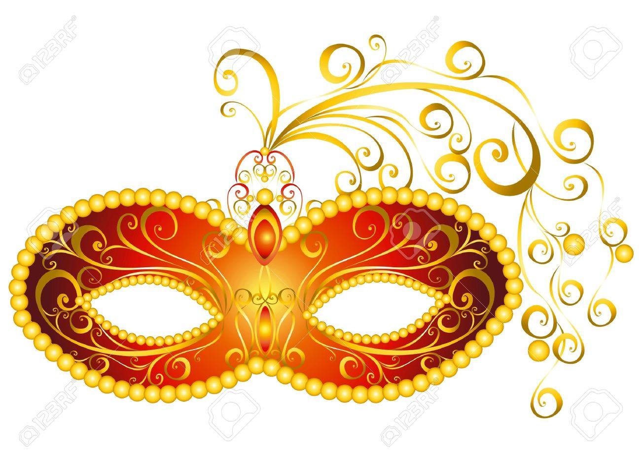 Masks for a masquerade  Vector party mask Stock Vector - 16258345