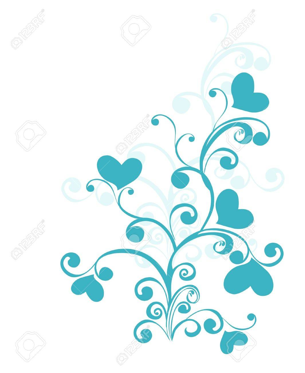 Decorative branch with hearts, element for design Stock Vector - 16313518