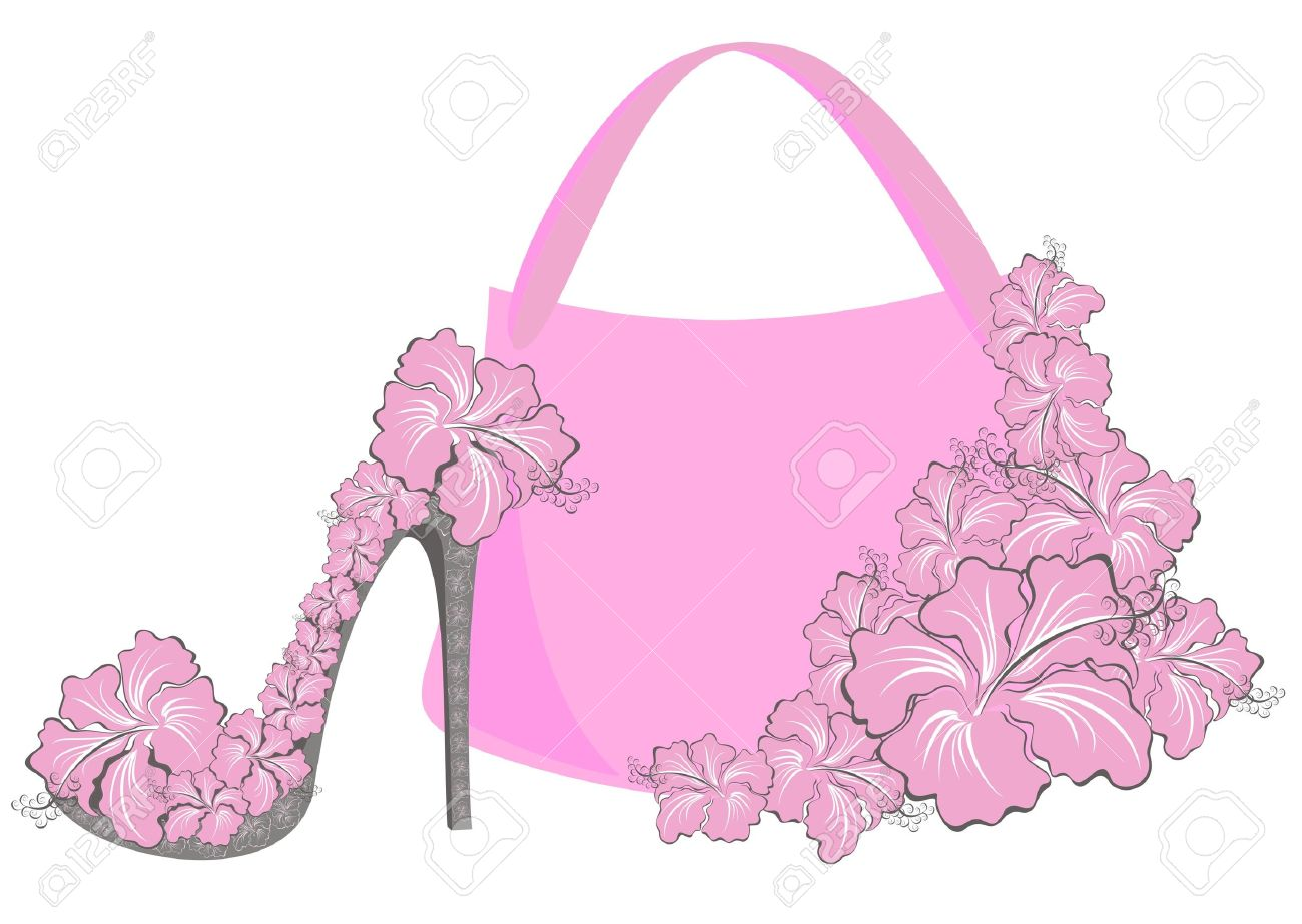 Beautiful Female Shoes And Bags Royalty Free Cliparts Vectors And
