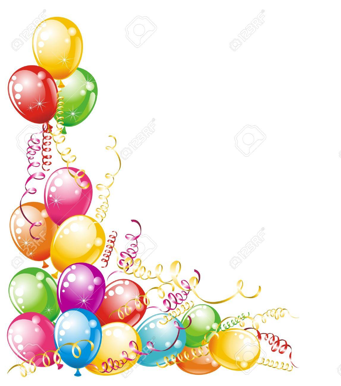 Tarjeta De Invitación Para Cumpleaños Globos De Diseño Ilustraciones ...