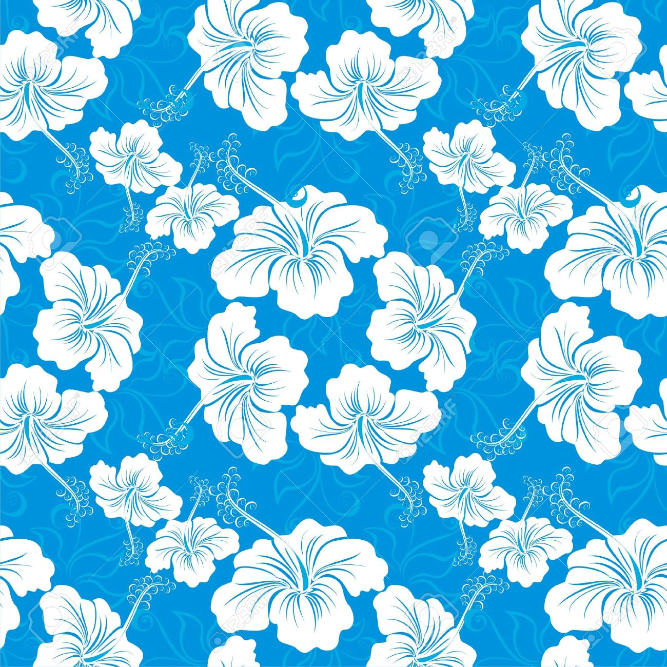 Seamless background with hibiscus flower hawaiian patterns royalty seamless background with hibiscus flower hawaiian patterns stock vector 16561255 izmirmasajfo