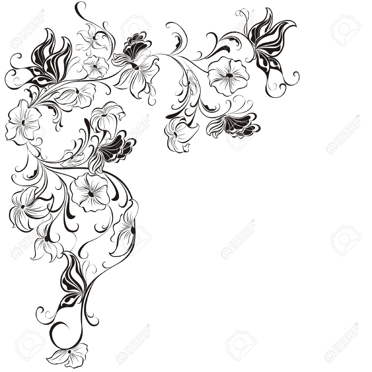 76 071 butterfly flower cliparts stock vector and royalty free