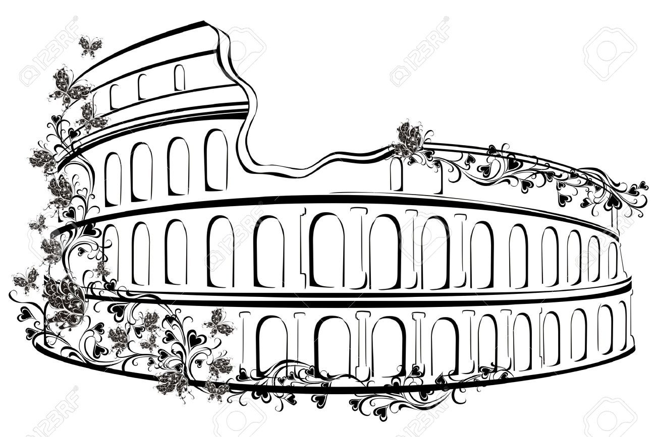 colosseum in rome italy royalty free cliparts vectors and stock rh 123rf com
