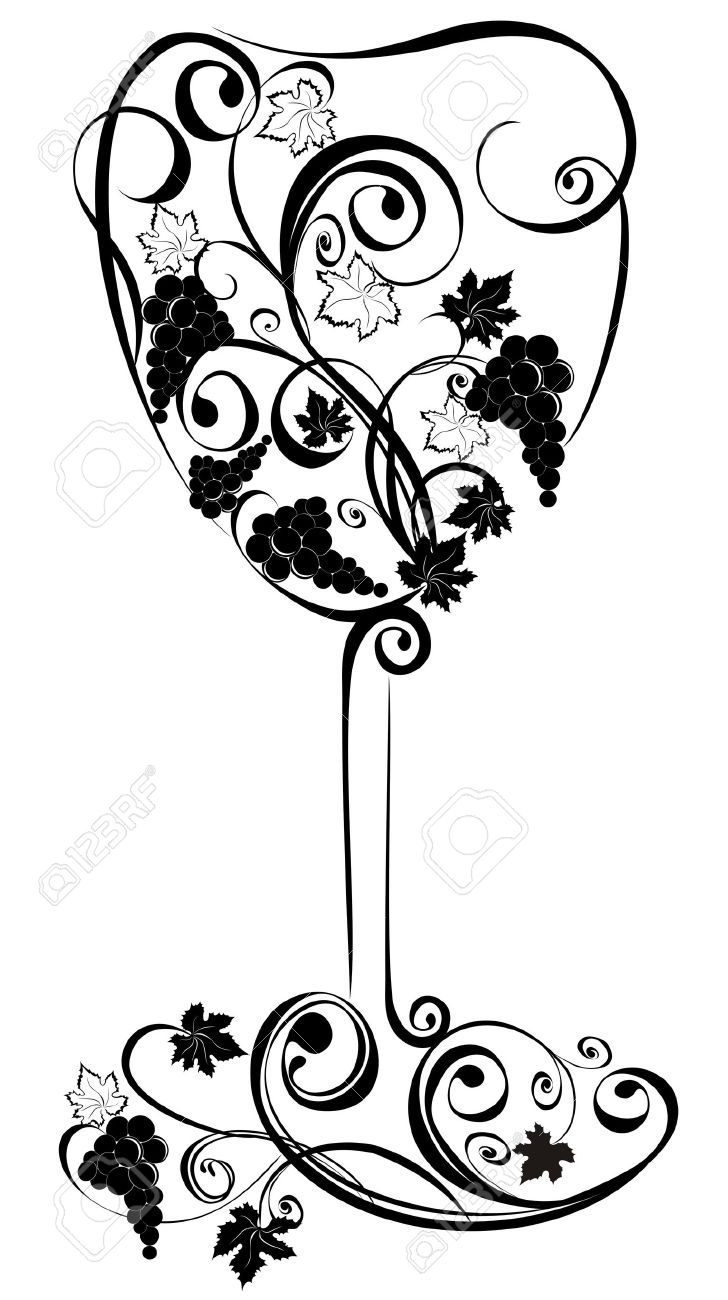 Stylized wine glass Stock Vector - 16949571