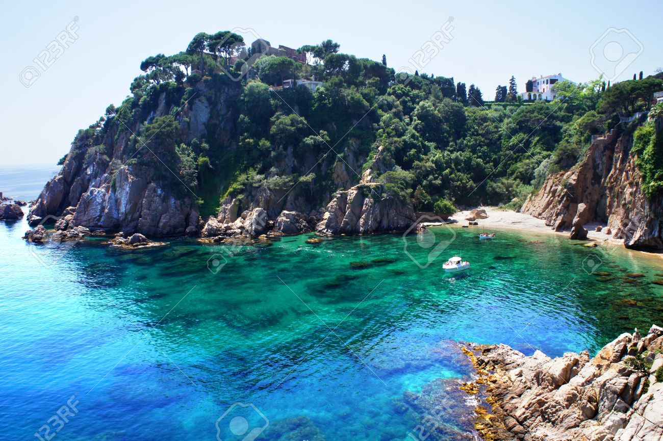 Costa Brava Landscape Blanes Catalonia Spain Stock Photo Picture And Royalty Free Image Image 19504401