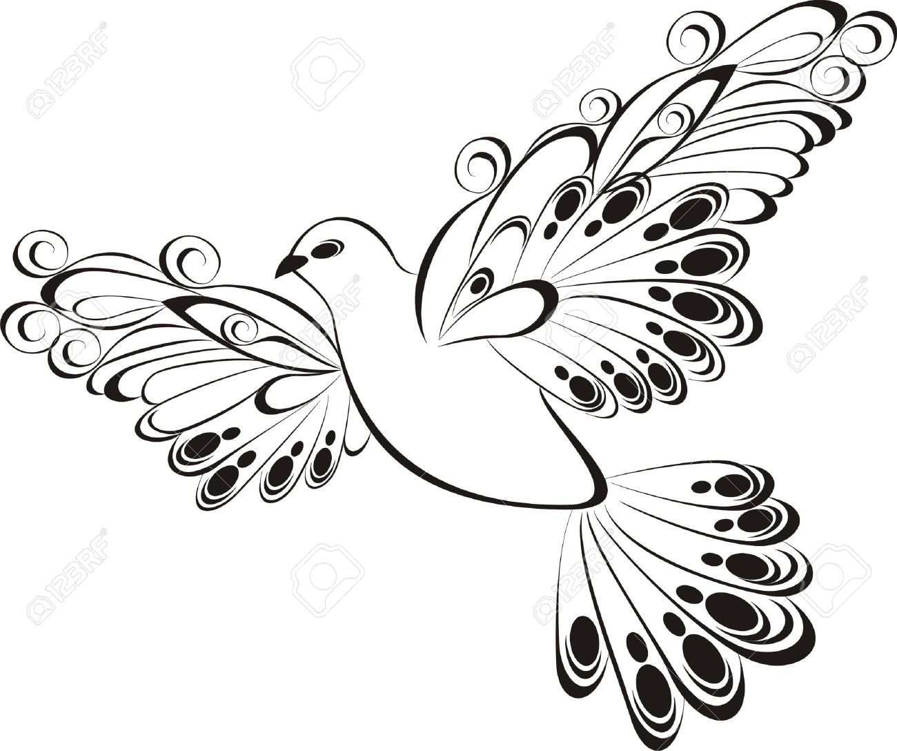 White dove ornament - White Dove Flying Dove
