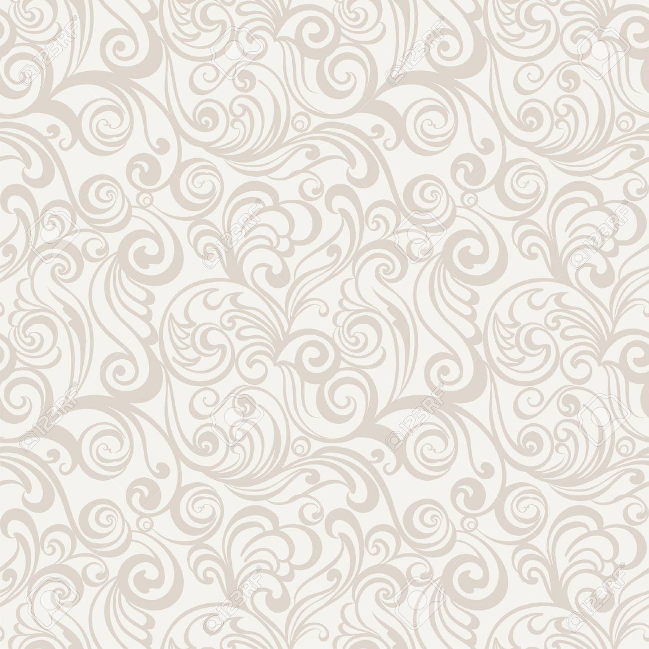 Seamless Floral Pattern Vintage Background Royalty Free Cliparts