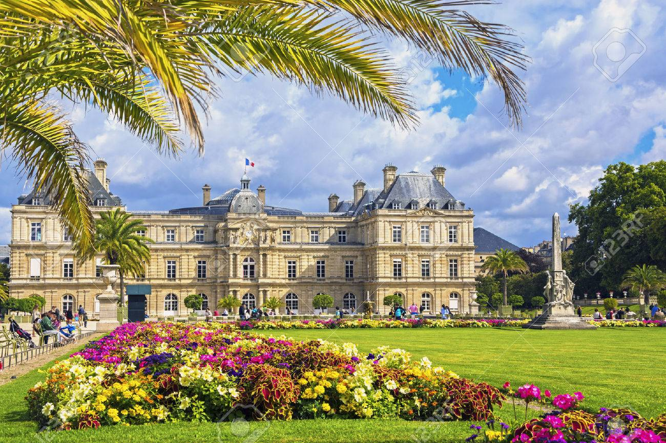 Palace In The Luxembourg Gardens Paris France Stock Photo Picture